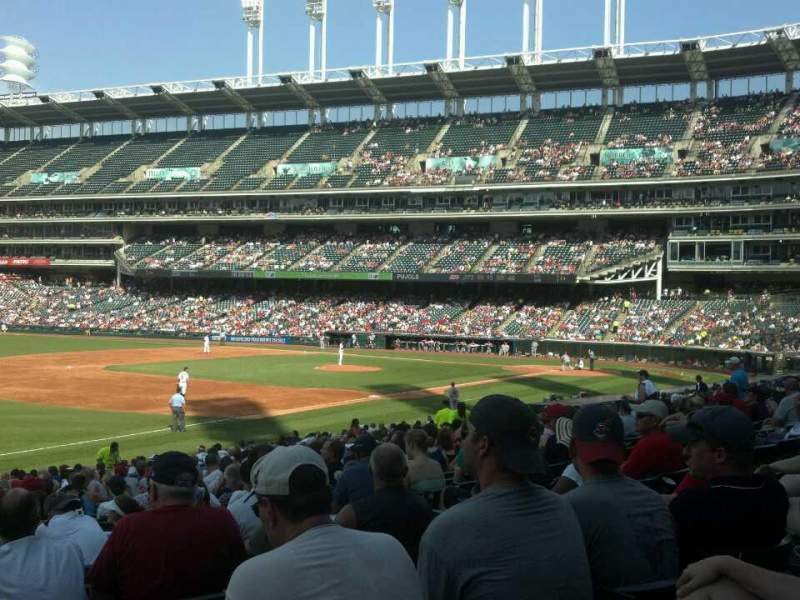 Seating view for Progressive Field Section 171 Row DD Seat 7