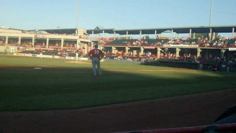 Seating view for UPMC Park Section 114 Row B Seat 7