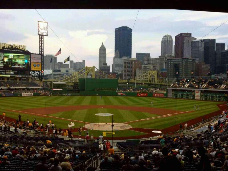 Seating view for PNC Park Section 116 Row GG Seat 14