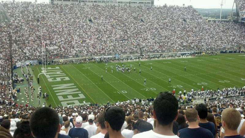 Seating view for Beaver Stadium Section EAU Row 62 Seat 26