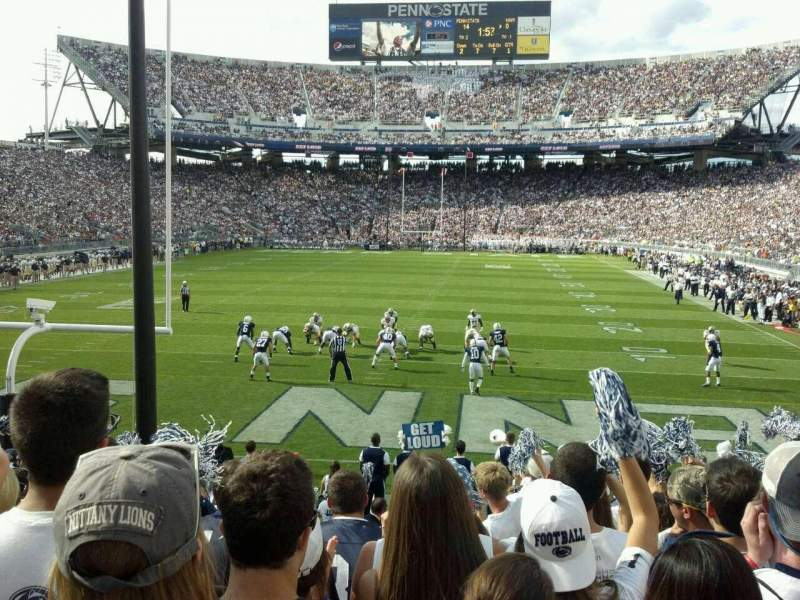 Seating view for Beaver Stadium Section SE Row 16 Seat 5