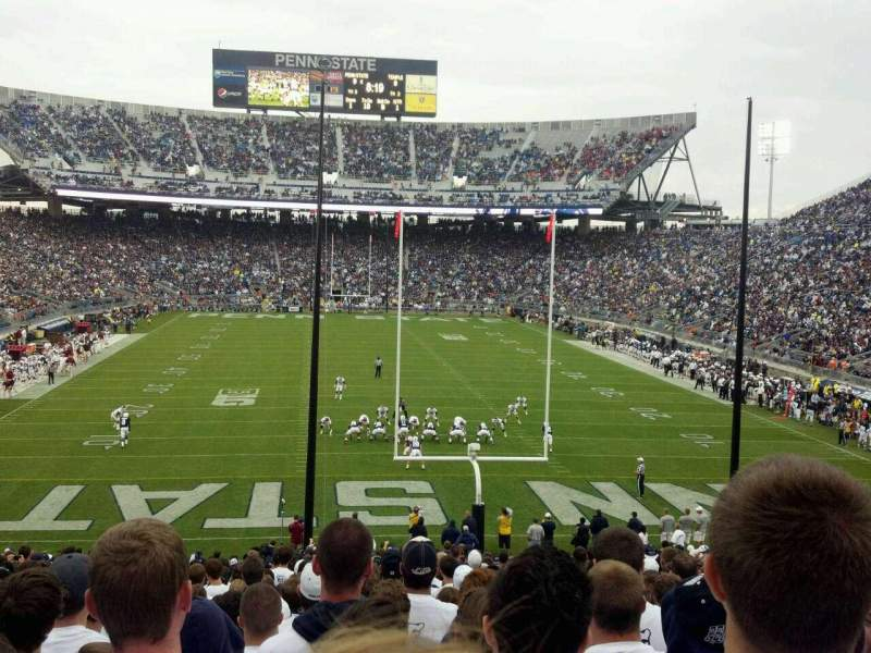 Seating view for Beaver Stadium Section SF Row 42 Seat 1