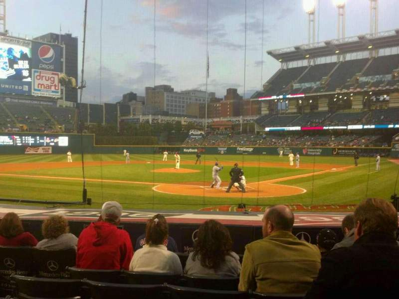 Seating view for Progressive Field Section 155 Row M Seat 6