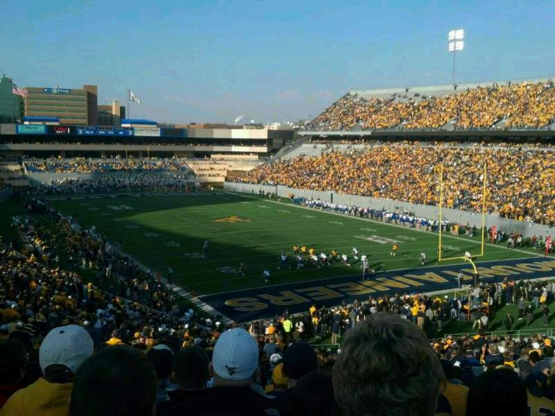 Seating view for Mountaineer Field Section 132 Row 49 Seat 121