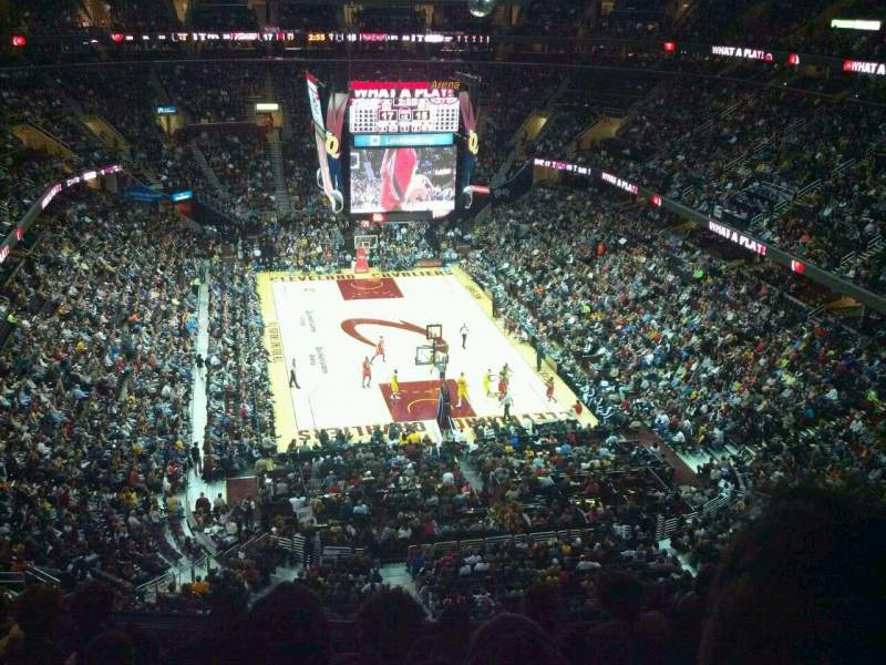 Seating view for Quicken Loans Arena Section 216 Row 8 Seat 4