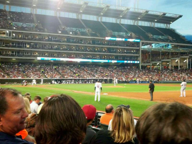 Seating view for Progressive Field Section 136 Row F Seat 3