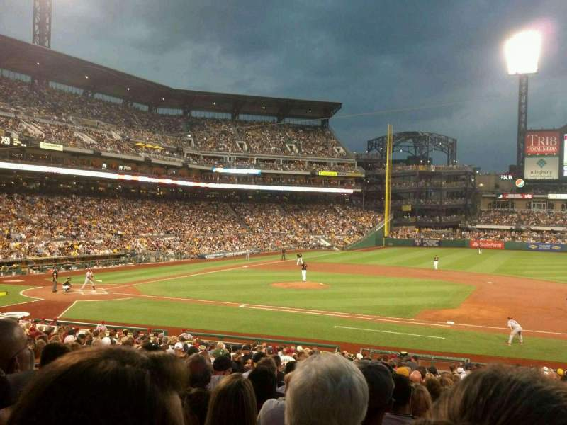 Seating view for PNC Park Section 109 Row T Seat 11