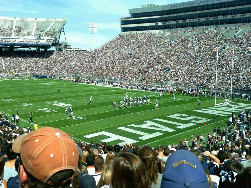 Seating view for Beaver Stadium Section SJ Row 36 Seat 8