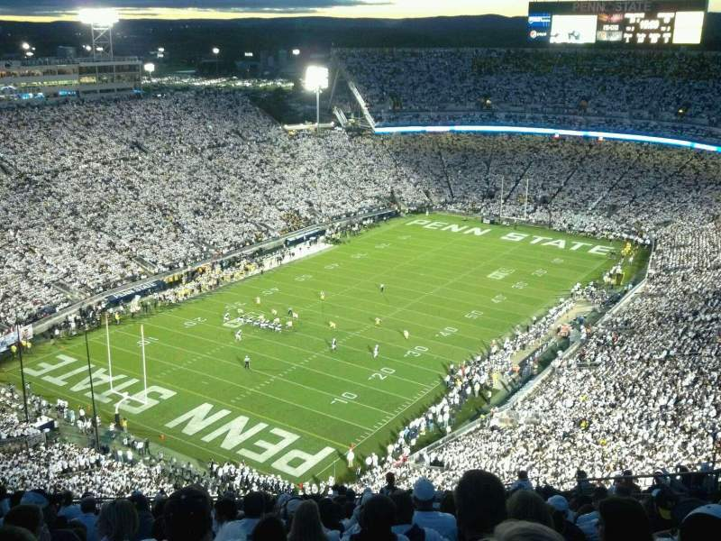 Seating view for Beaver Stadium Section SBU Row 76 Seat 33