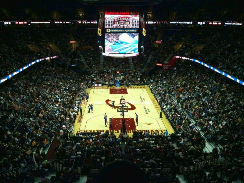 Seating view for Quicken Loans Arena Section 200 Row 2 Seat 3