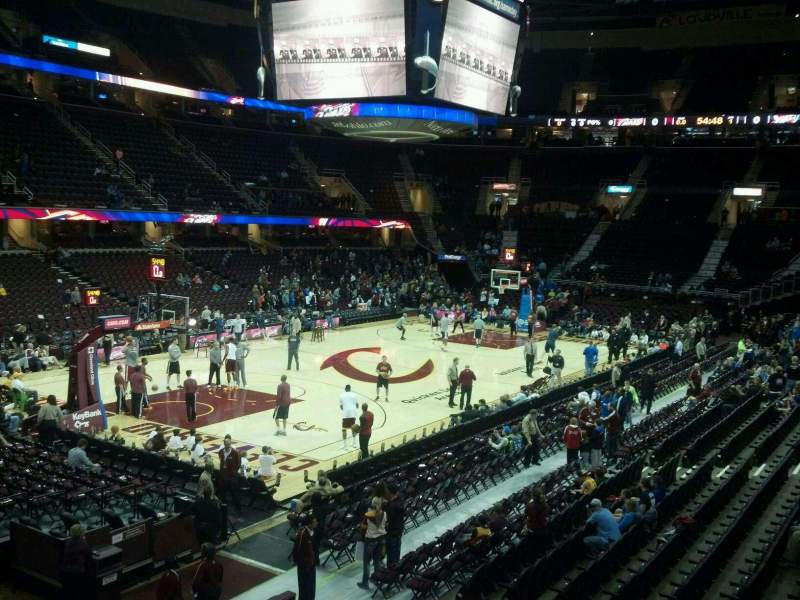 Seating view for Quicken Loans Arena Section 104 Row 15 Seat 7