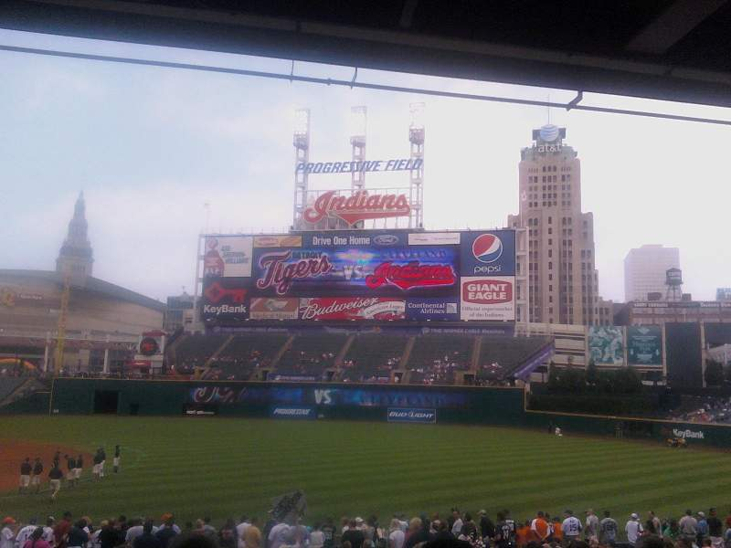 Seating view for Progressive Field Section 131 Row CC Seat 7
