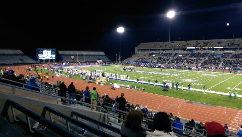 Seating view for UB Stadium Section 203 Row E Seat 1