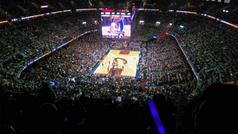 Seating view for Quicken Loans Arena Section 218 Row 15 Seat 13