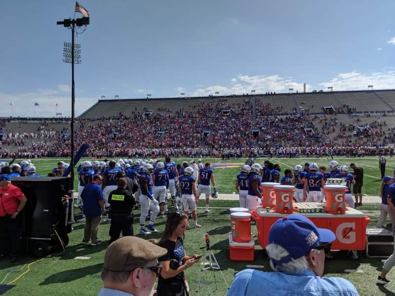 Seating view for David Booth Kansas Memorial Stadium Section 6 Row 3 Seat 5