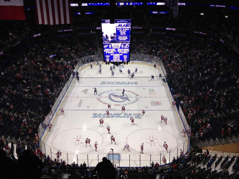 Seating view for Amalie Arena Section 309 Row S Seat 20