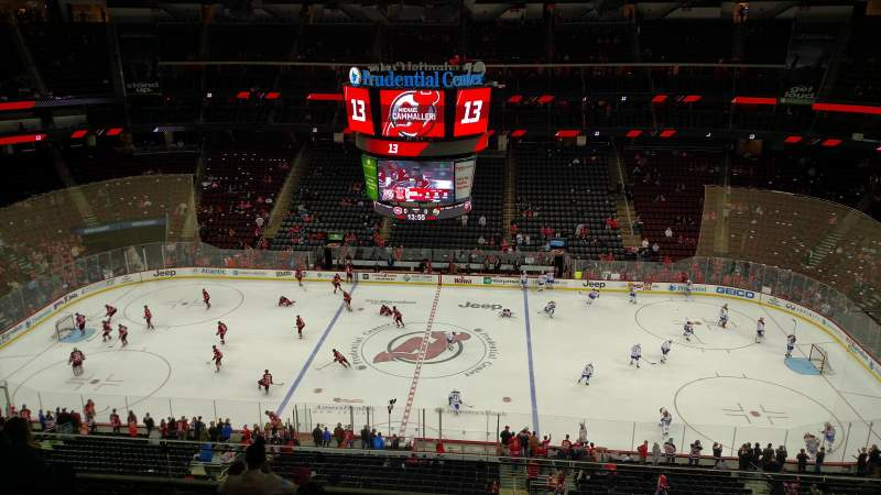 Seating view for Prudential Center Section 129 Row 7 Seat 8