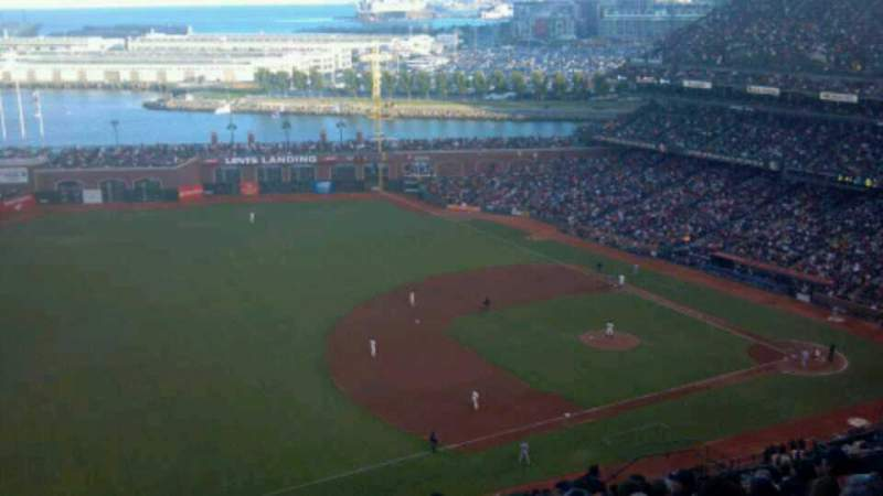 Seating view for AT&T Park Section 327 Row 17 Seat 16