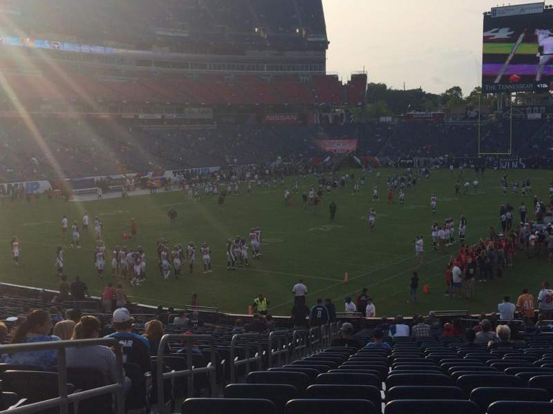Seating view for Nissan Stadium Section 119 Row GG Seat 20