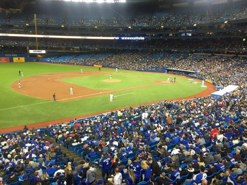Seating view for Rogers Centre Section 233L Row 1 Seat 101