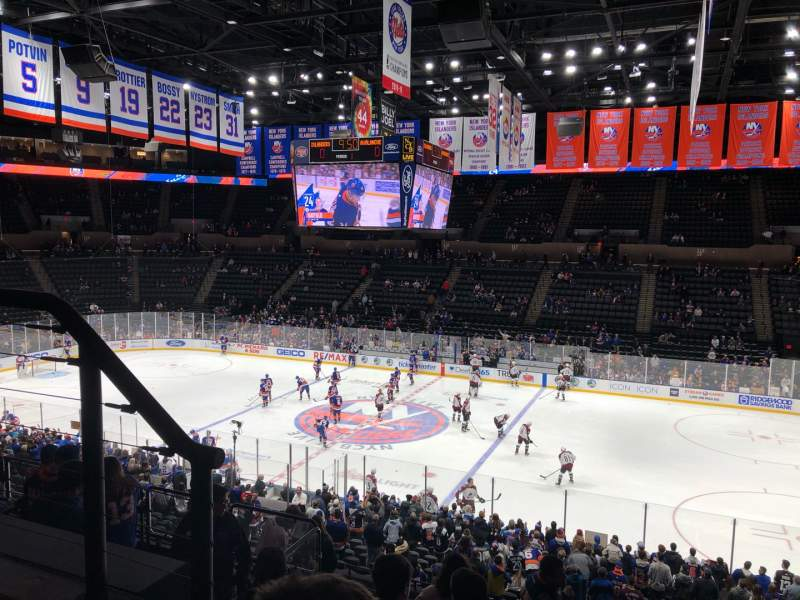 Seating view for Nassau Veterans Memorial Coliseum Section 201 Row 2 Seat 13