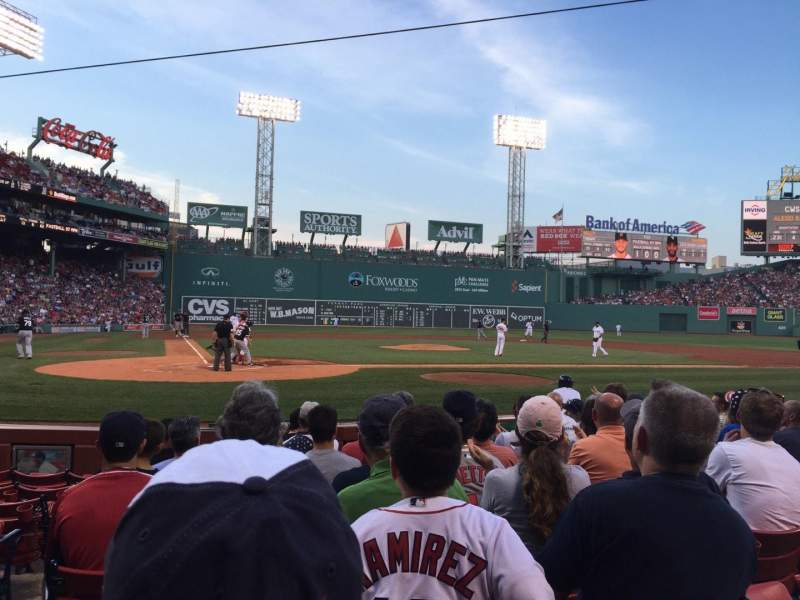 Seating view for Fenway Park Section Field Box 38 Row G Seat 8