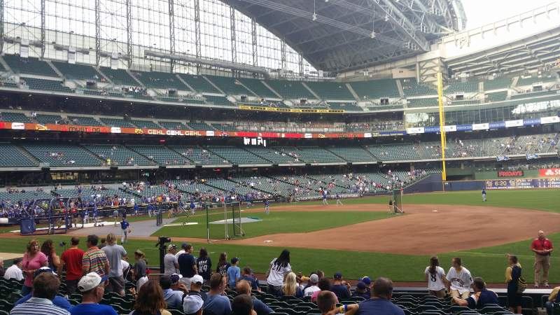 Seating view for Miller Park   Section 111 Row 15 Seat 17