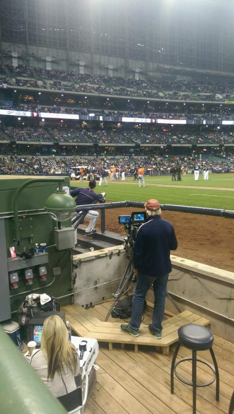 Seating view for Miller Park Section DB 112 Row 4