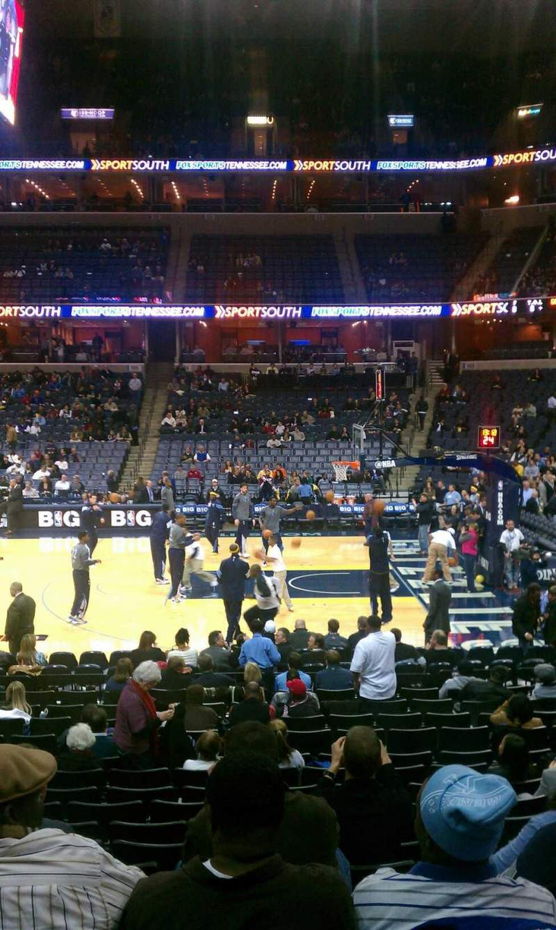 Seating view for FedEx Forum Section 115 Row S Seat 16