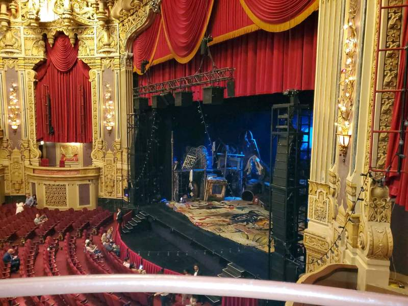 Seating view for James M. Nederlander Theatre Section Loge - Box 2 Row A Seat 374
