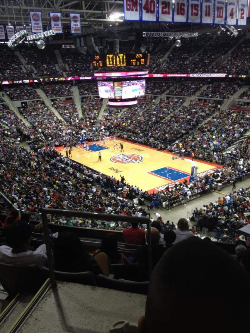 Seating view for The Palace of Auburn Hills Section 211