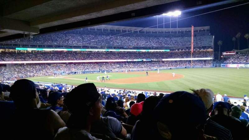 Seating view for Dodger Stadium Section 38FD Row W Seat 7