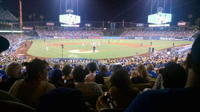 Seating view for Dodger Stadium Section 4FD Row W Seat 6