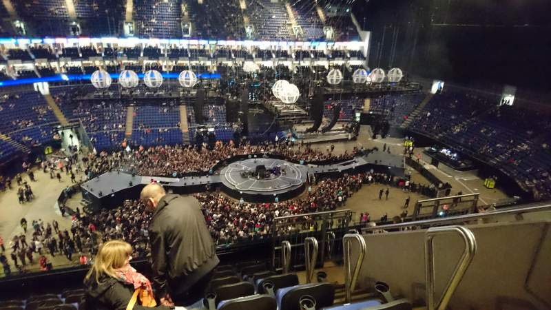 The O2 Arena, section: 419, row: H, seat: 896