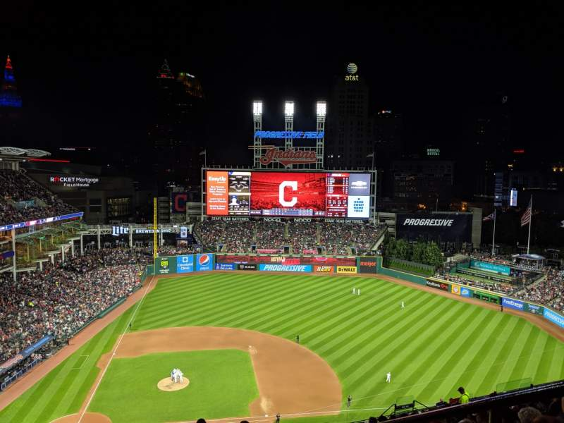 Seating view for Progressive Field Section 548 Row W Seat 2