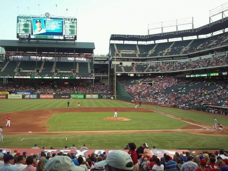 Seating view for Globe Life Park in Arlington Section 19 Row 24 Seat 15