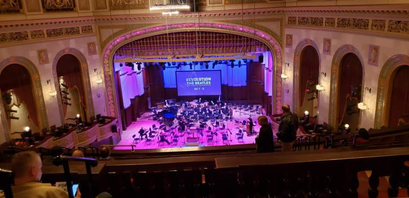 Seating view for Orchestra Hall Section M3 Row L Seat 13