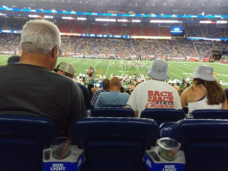 Seating view for Gillette Stadium Section 131 Row 26 Seat 10