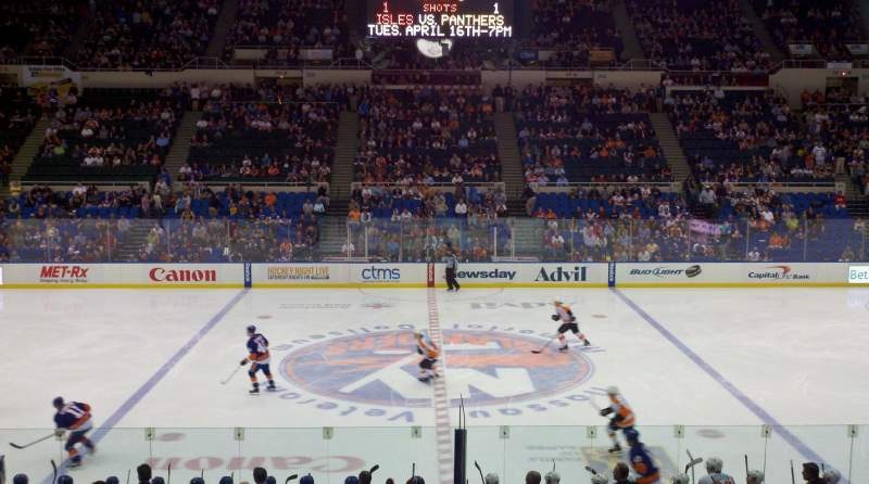 Seating view for Old Nassau Veterans Memorial Coliseum Section 217 Row G Seat 9