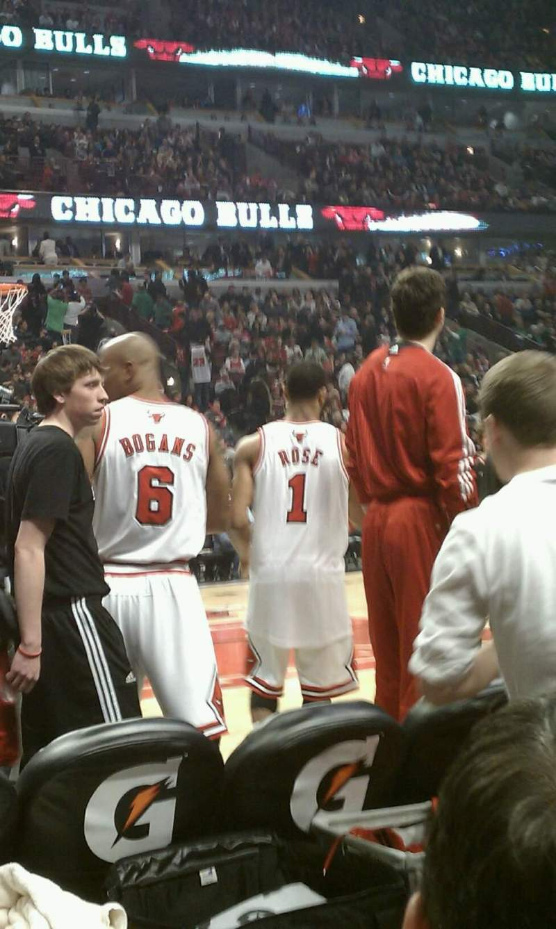 Seating view for United Center Section 102 Row B Seat 4