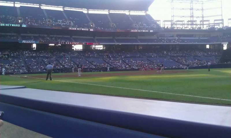Seating view for Turner Field Section 121R Row 1 Seat 5