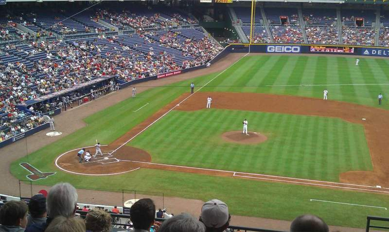 Seating view for Turner Field Section 311L Row 7 Seat 102