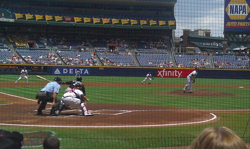 Seating view for Turner Field Section 105L Row 5 Seat 109