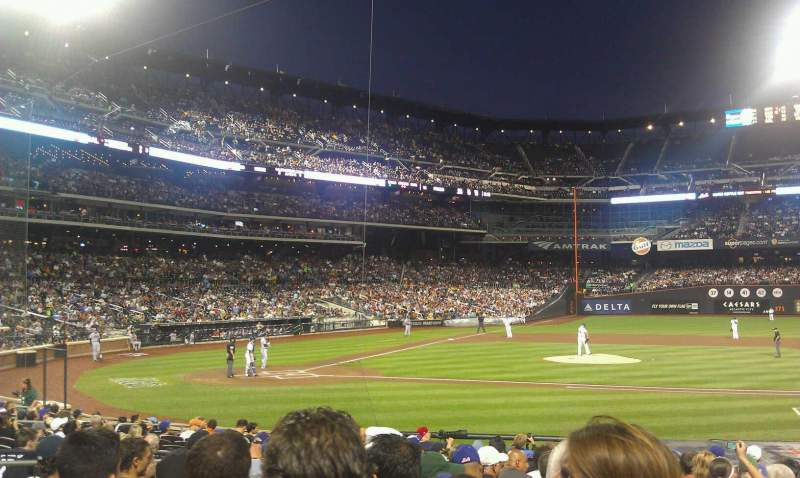 Seating view for Citi Field Section 114 Row 14 Seat 9