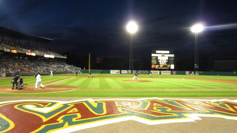 Seating view for NBT Bank Stadium Section 105 Row 1 Seat 6