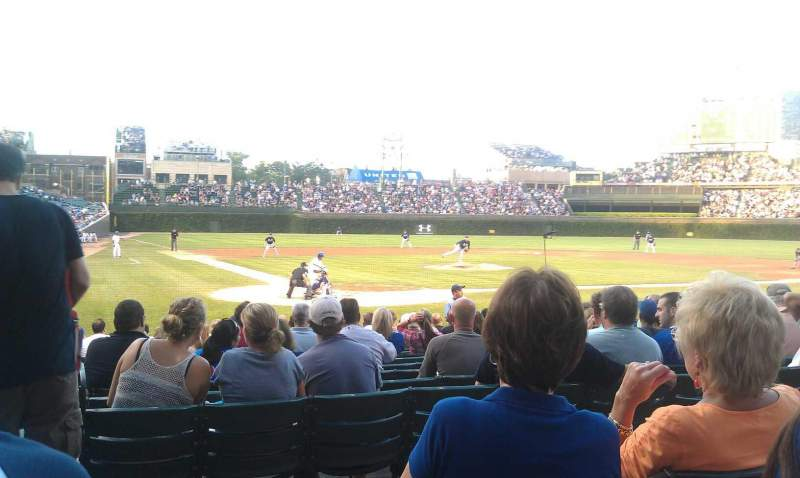 Seating view for Wrigley Field Section 120 Row 3 Seat 7