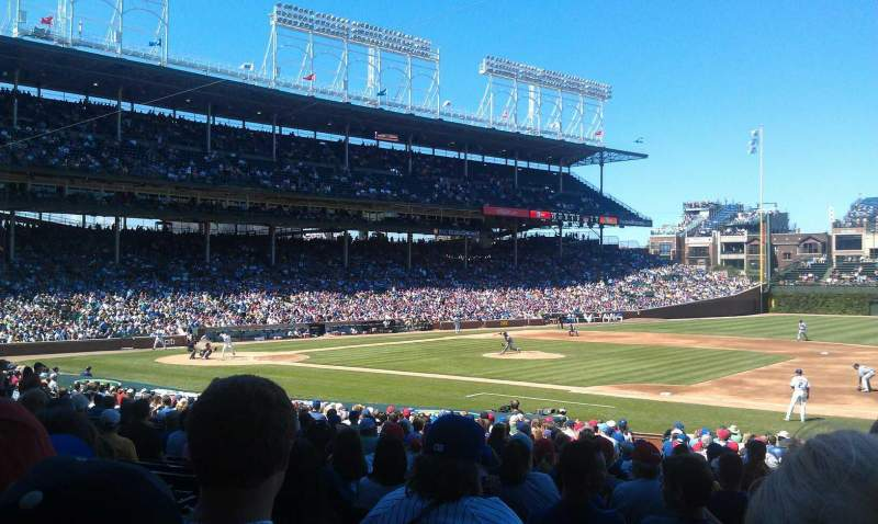 Seating view for Wrigley Field Section 126 Row 14 Seat 8