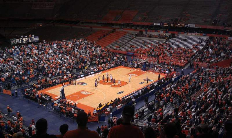 Seating view for Carrier Dome Section 314 Row L Seat 13