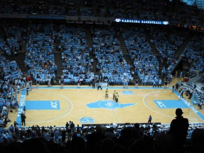 Seating view for Dean E. Smith Center Section 107