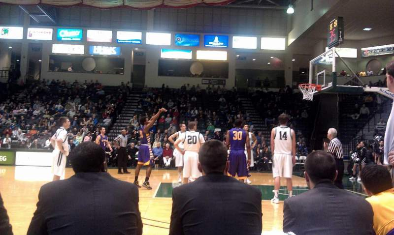 Seating view for Binghamton University Events Center Section 103 Row A Seat 6